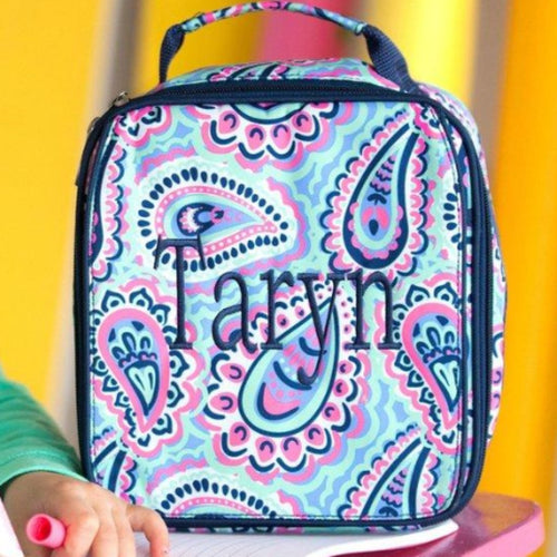 Monogrammed Lunch Box ~ Sophie Lunch box ~ Custom Girls lunch box - Blush & Company Designs