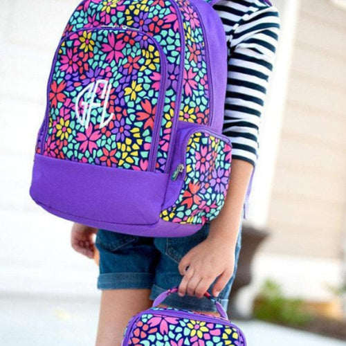 Monogrammed Petal Punch Backpack ~ girls backpack - Blush & Company Designs