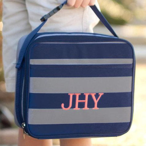Monogrammed Lunch Box ~ Greyson Lunch box ~ Custom Girls lunch box - Blush & Company Designs