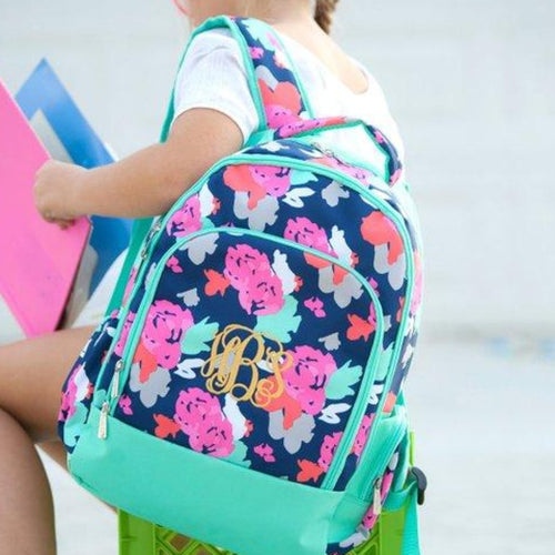 Monogrammed Amelia Backpack~ Monogrammed Girls Backpack - Blush & Company Designs
