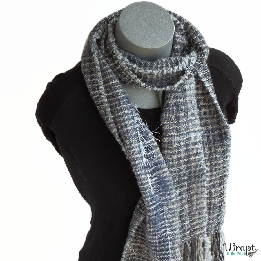 Kokako Scarf handcrafted by Wrapt in New Zealand