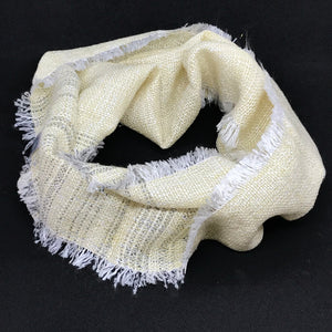Summer Weight Loop Scarf in Gold