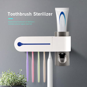 Toothbrush Sterilizer Automatic Toothpaste Dispenser