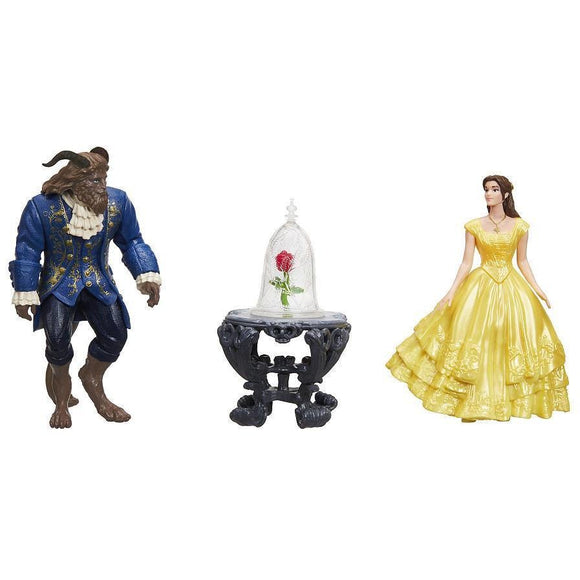 Disney Beauty and the Live Action Beast Enchanted Rose Scene Doll Set - Belle and  Beast Live Action