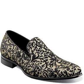 Stacy Adams Swank Floral Velour Overlay Slip On  25328