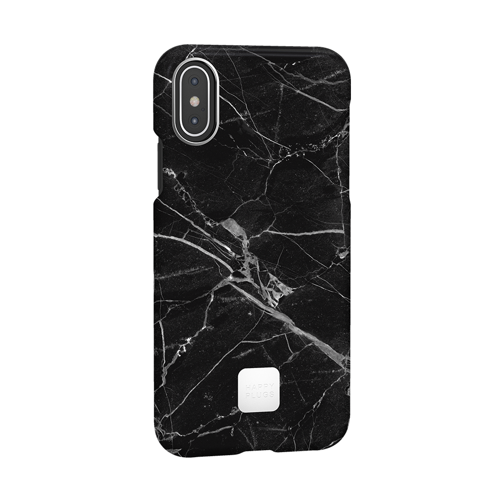 iPhone XS Case Black Marble
