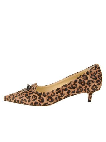 Womens Cheetah Brusca Pointed Toe Kitten Heel 7