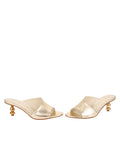 Womens Platinum Nappa Lux Orena Decorative Heeled Sandal 5