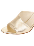 Womens Platinum Nappa Lux Orena Decorative Heeled Sandal 6