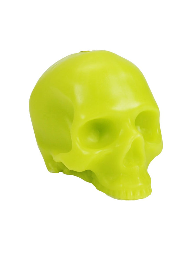 Large Green Skull Candle
