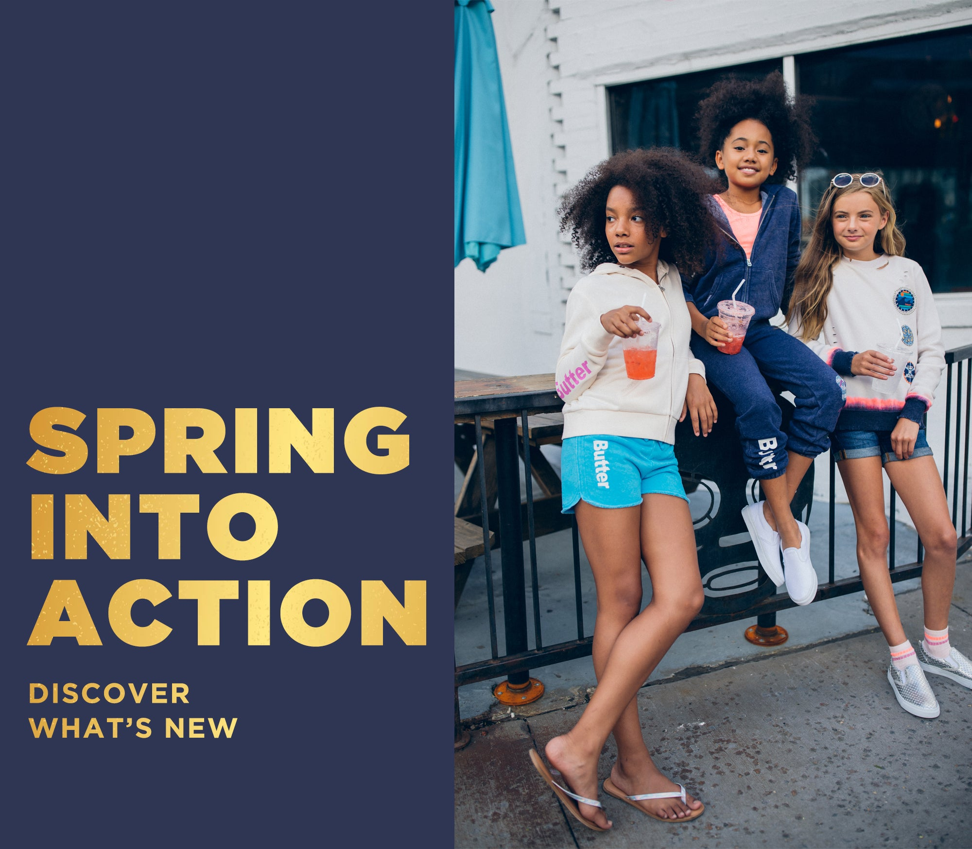Spring into action. Discover our new kids collection.