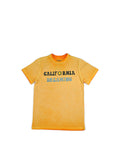 Boys Orange Pepper Boys Mineral Wash Jersey Tee With Print Design