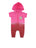 Girls Beetroot Purple Patches Dip Dye Hooded Fleece Romper 2 Alternate View