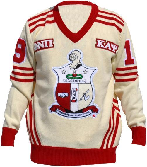 Kappa Alpha Psi Wool Varsity Letterman V-Neck Sweater