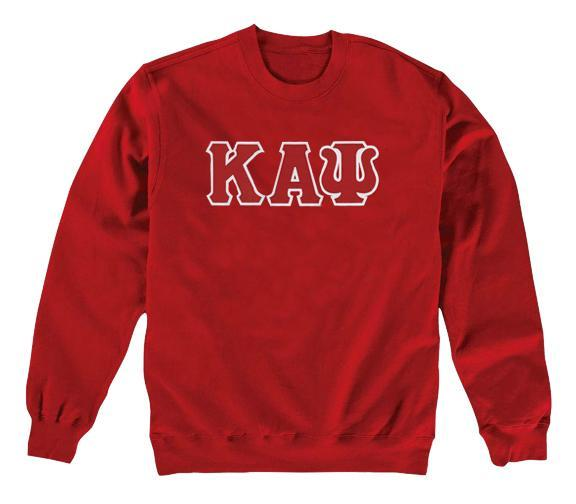 Kappa Alpha Psi 3-Letter Crewneck Sweatshirt (Red)
