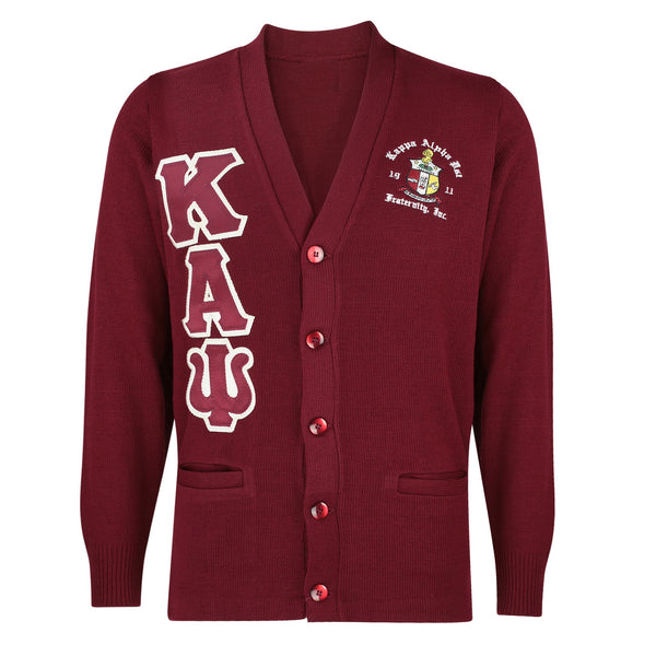 Kappa Alpha Psi Greek Letter Cardigan Sweater (Krimson)
