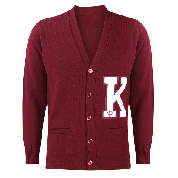 Kappa Alpha Psi K Cardigan Sweater (Krimson)
