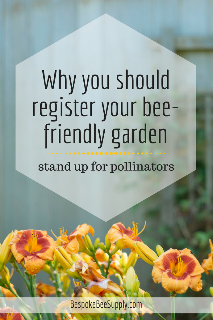 Register your bee-friendly garden with Bee Counted
