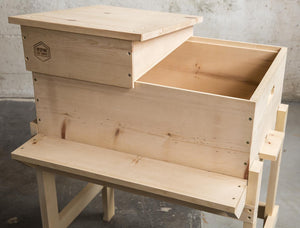 Horizontal Langstroth Hive One Roof On, One Roof Off