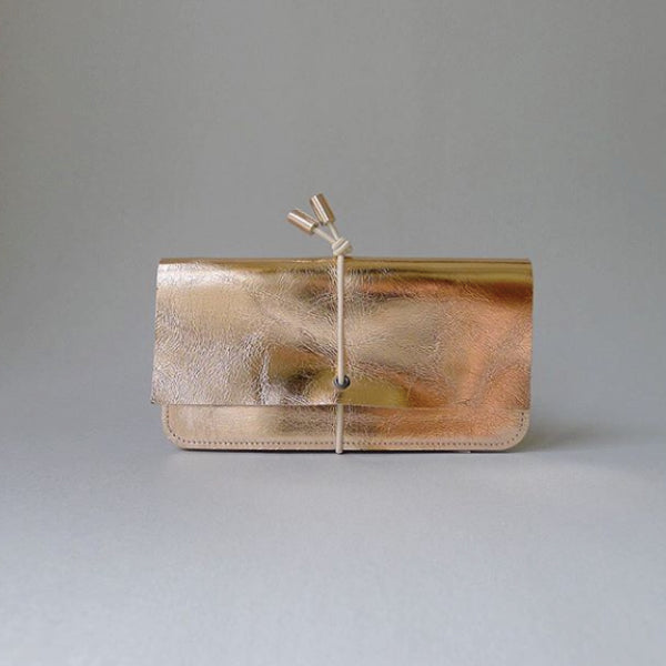 Leather Wallet Rose Gold
