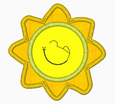 Morning Sunshine Embroidery Applique Designs - IC1derful Designs