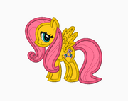 My Little Pony Embroidery Applique Designs - Fluttershy - IC1derful Designs