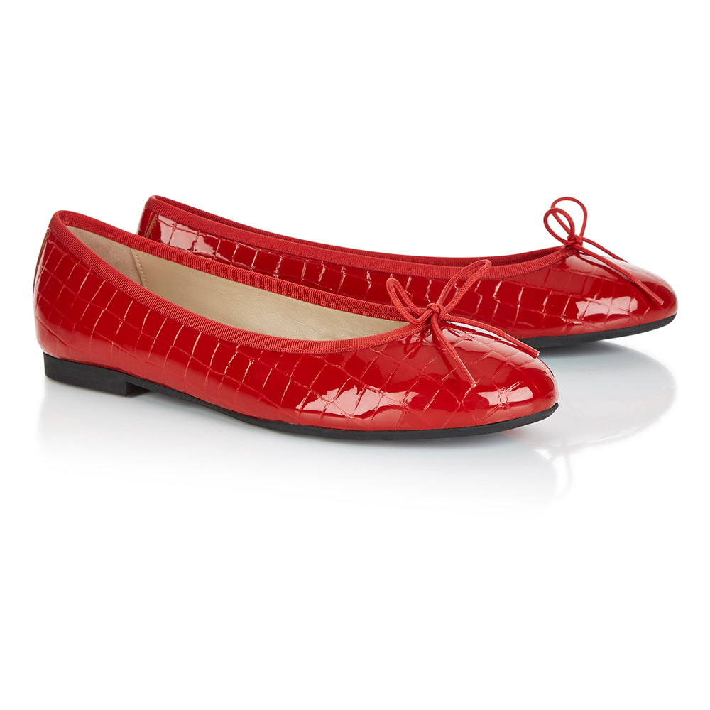 French Sole - Amelie Croc Patent Red PRE-ORDER