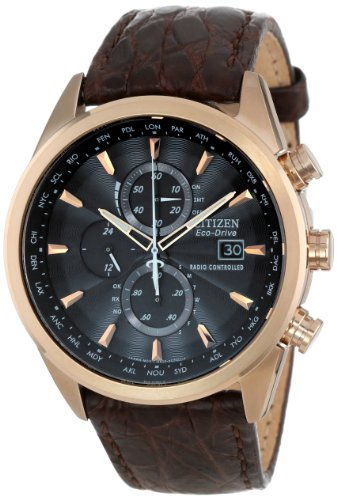 Citizen Men's Eco-Drive World Chronograph Atomic Timekeeping Watch with Day/Date, AT8013-17E