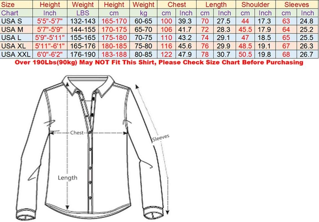 Men's Slim Fit Long Sleeves Casual Button Down Dress Shirts