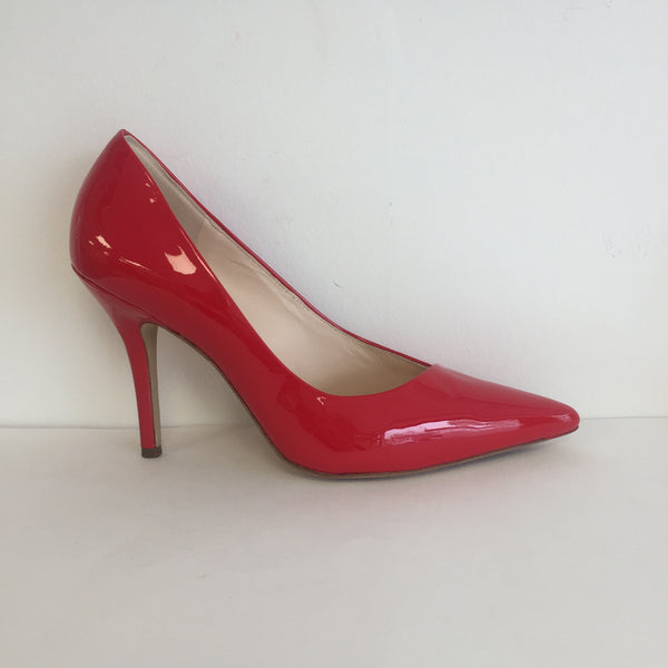 Högl Red Patent Court Shoe - New