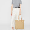 Natalie Waxed Cotton Tote in Sand