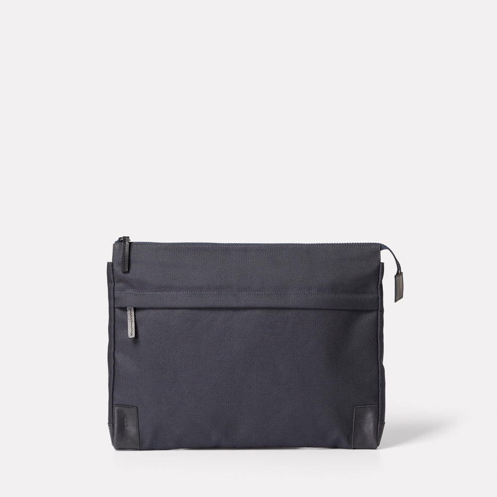 Bruce Granular Cotton Document case in Ink