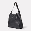 Cleve Large Calvert Leather Shoulder Bag in Black