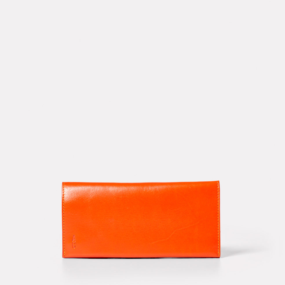 Evie Long Boundary Leather Purse in Flame