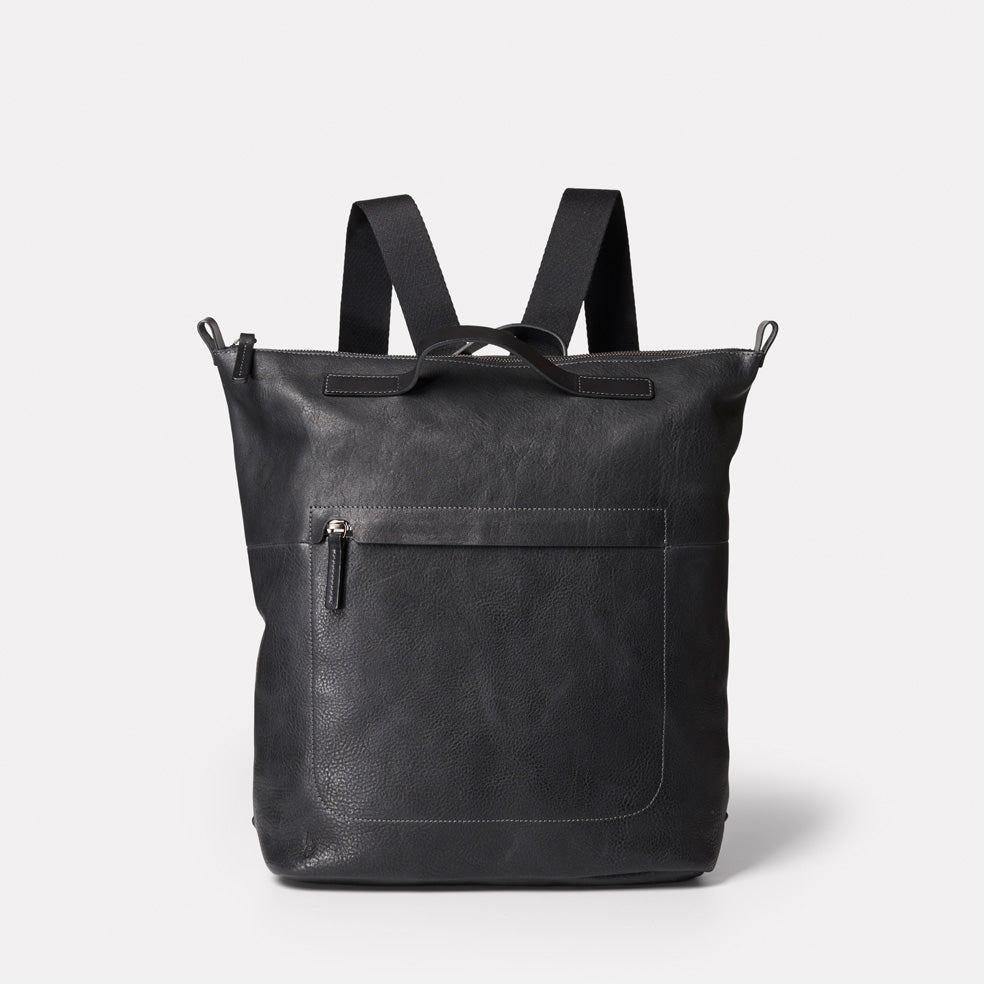 Hoy Mini Leather Backpack in Black