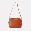 Leila Large Calvert Leather Crossbody Bag in Tan