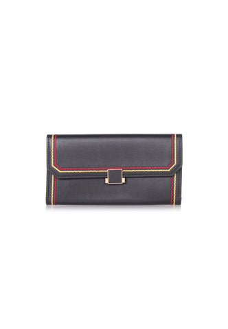VOIR Long Wallet with Contrast Stitching Design VN201316-C091905