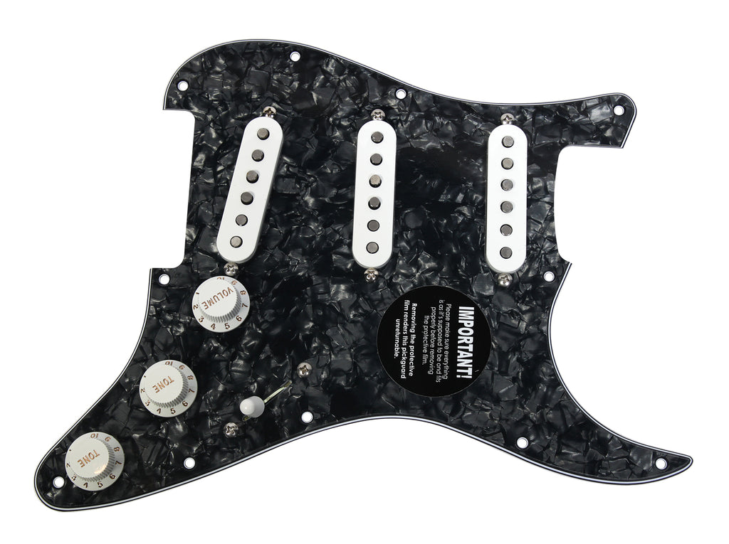 Seymour Duncan SSL-1 Loaded Strat Pickguard Strat BP/WH