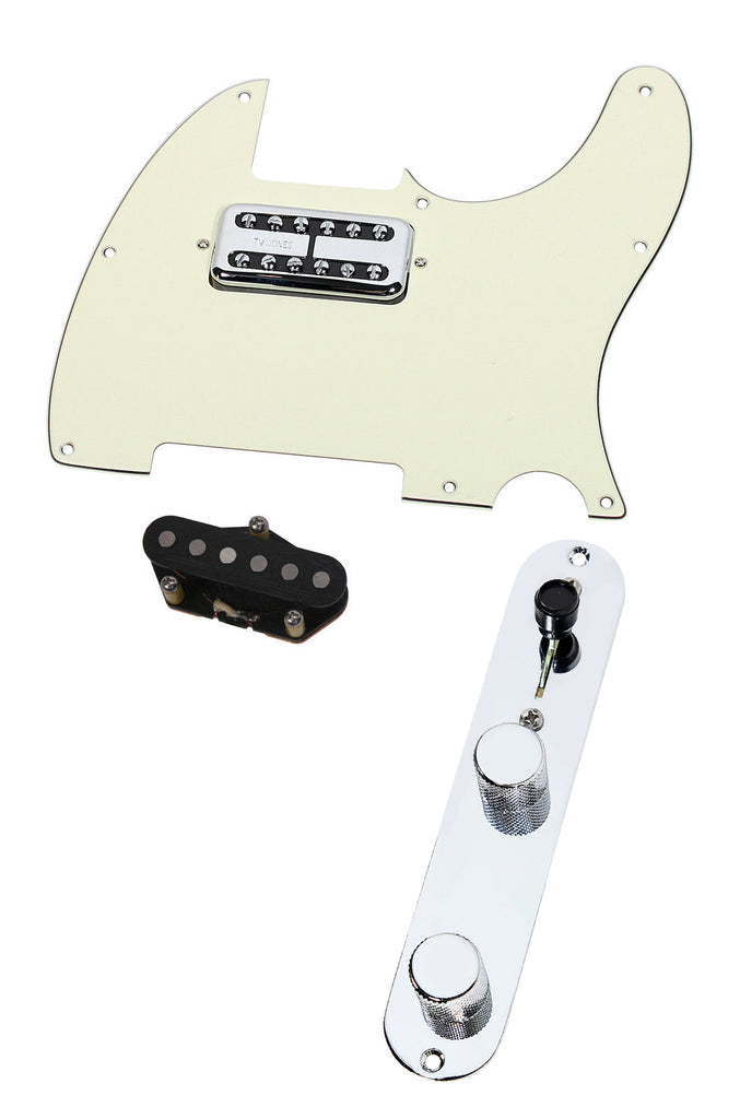 Fender Telecaster Loaded Pickguard TV Jones Magnetron + T Style Bridge T4W MG