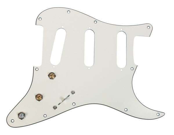 920d custom s5w loaded pre wired stratocaster pickguard 3 ply parchme. Black Bedroom Furniture Sets. Home Design Ideas