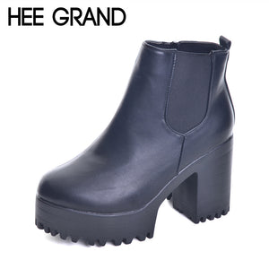 HEE GRAND Platform Heeled Ankle Boots