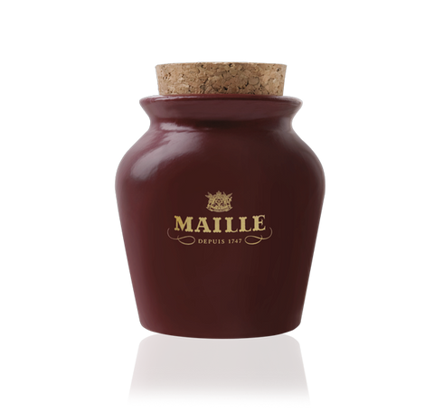 Maille Black Truffle Mustard with Chablis White Wine in Red Puce Jar 230g