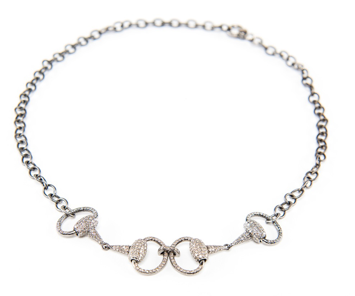 Pave Diamond Double Bit Choker