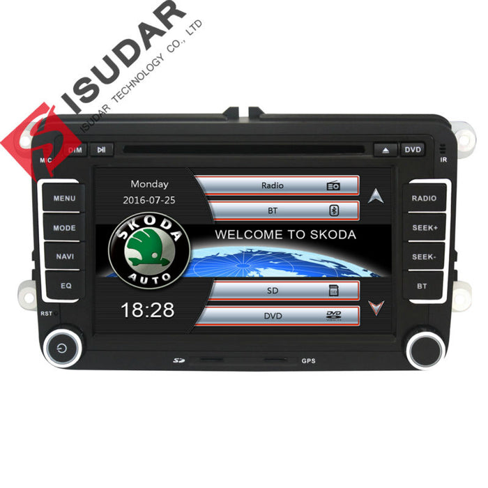 Two Din 7 Inch Car DVD Player For Skoda/Octavia/Fabia/Rapid/Yeti/Superb/VW/Seat With Wifi Radio FM GPS Navigation 1080P Ipod Map