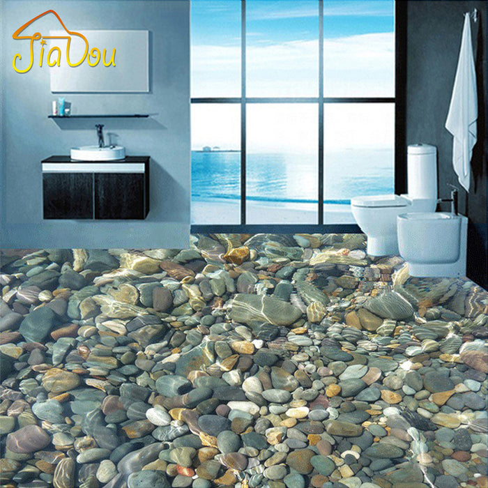 lifelike pebbles 3D wallpaper