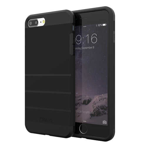 Black Apple iPhone 6 6s Plus Case Cover Crave Strong Guard var-4931112140841