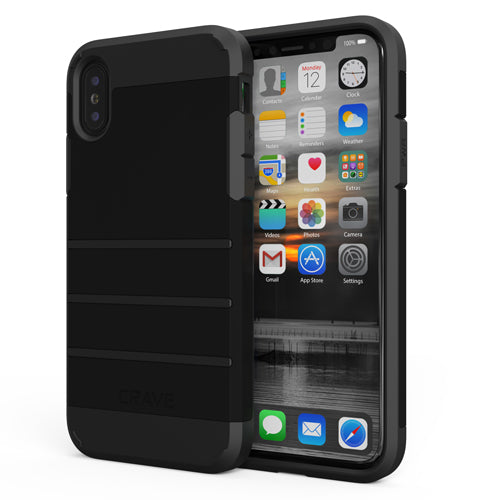 Black Apple iPhone X 10 Case Cover Crave Strong Guard var-4931111714857