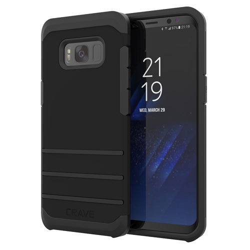 Black Samsung Galaxy S8 Case Strong Guard Cover by Crave var-8116749697137