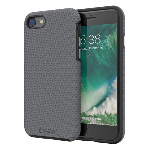 Grey Gray iPhone 7 Case Apple 8 Cover Seven Eight Crave var-8111183036529