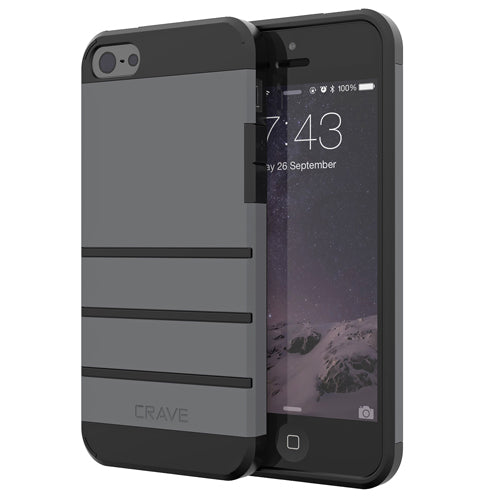 Grey Gray Apple iPhone 5 5s SE Case Cover Crave Strong Guard var-4931112304681